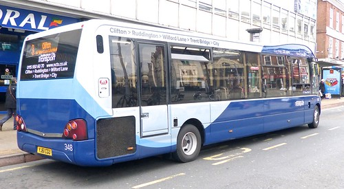 YJ61 CGU 'Nottingham City Transport'  No. 348 'Navy Line' Optare Solo M995 /3 on 'Dennis Basford's railsroadsrunways.blogspot.co.uk'