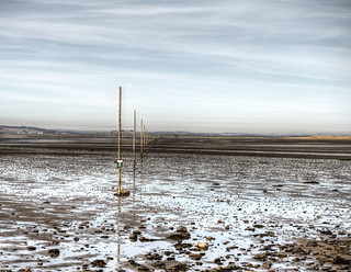 the path to the Holy Island of Lindisfarne