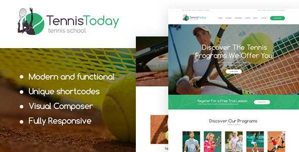 Tennis Today WordPress Theme free download