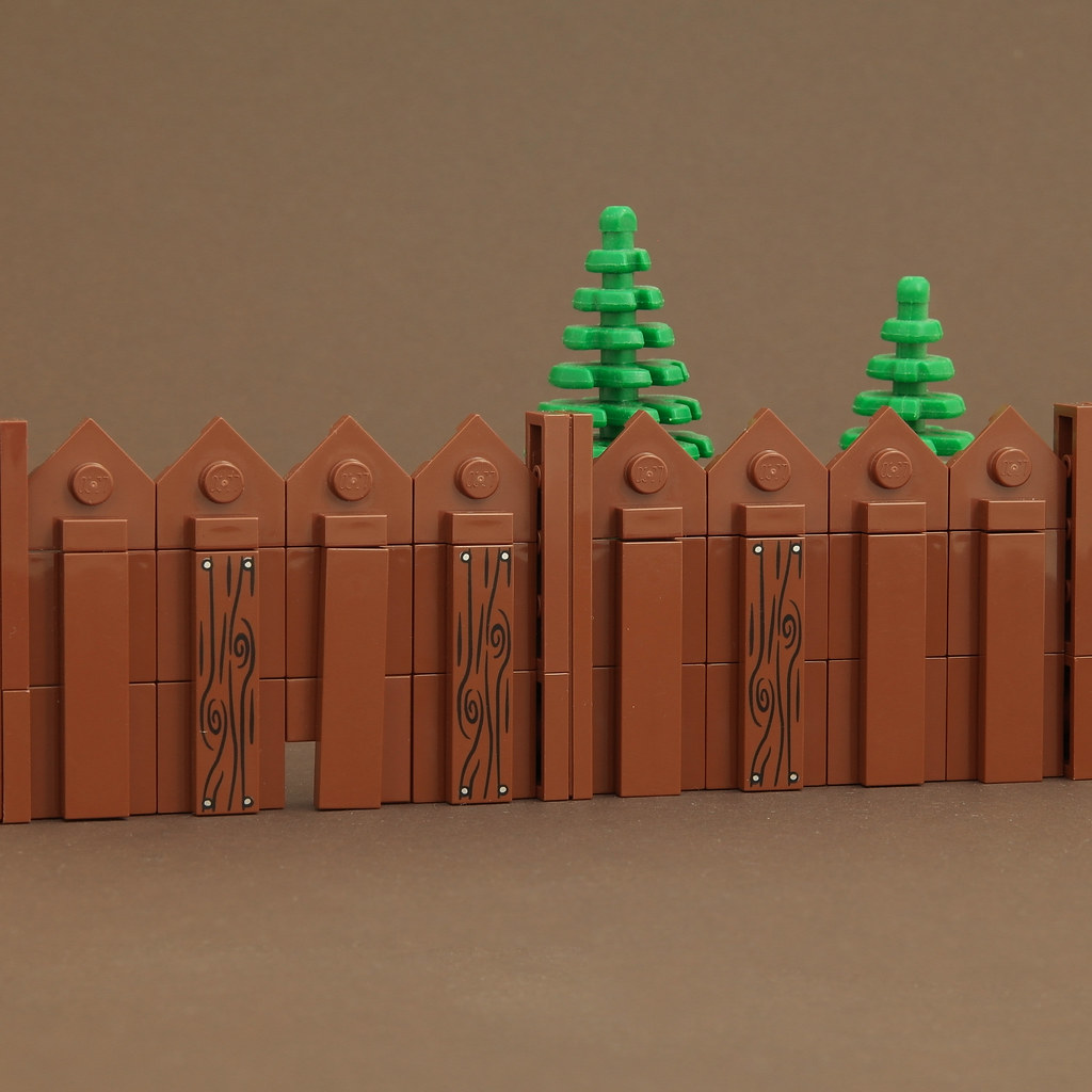 MinecraftMould – Fence 2 (custom built Lego model)
