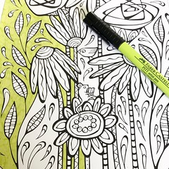 Time to take a break and start colouring in my hand-drawn Floral Splashes colouring-page-to-be! . @fabercastellglobal #flcolor #flcolourpages #coloringpage #colouringsheet #adultcoloringpage #kidscoloringpage #handdrawncoloringpage #floatinglemons