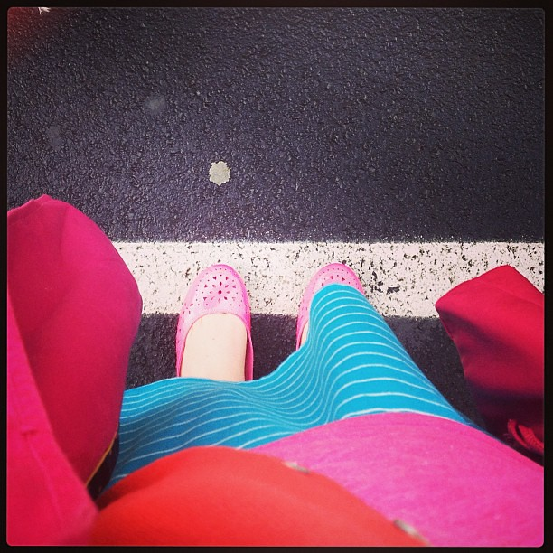 Wearing a few hundred bright colors for my #brothersisteradventure.