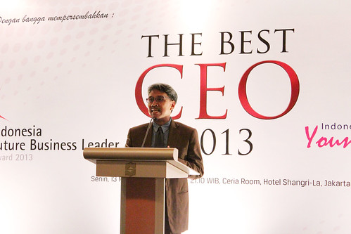 The Best CEO & Indonesia Future Business Leader Award 2013 ~ Presentasi Tommy Sudjarwadi.