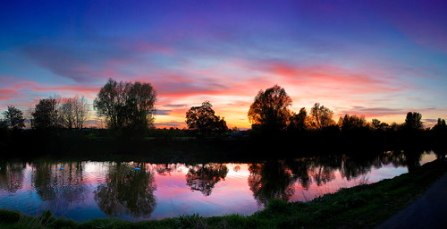 sunset silhouette canon reflections river eos severn 27 worcester 5dmarkiii