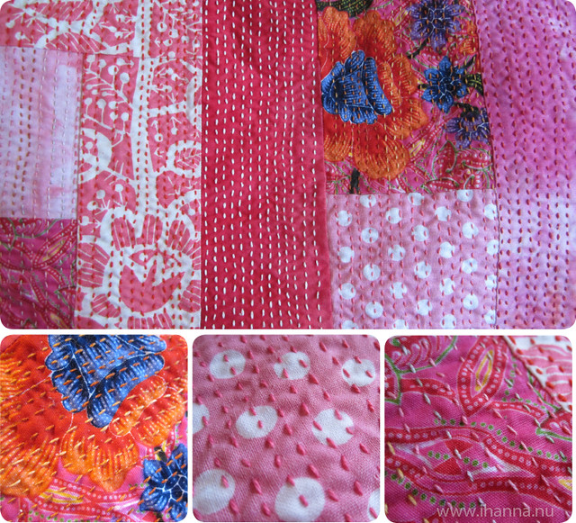 Kantha stithes in detail