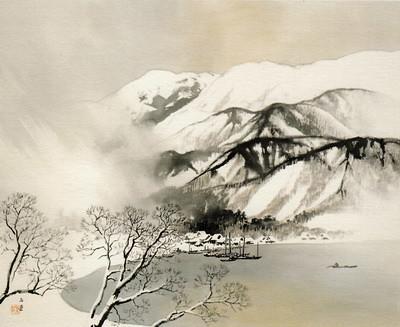 雪志末久湖畔