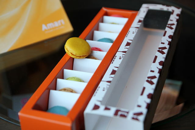 Mouthwatering box of macarons
