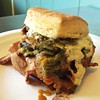 Steak and cheese with poblanos, caramelized onions, provolone, and chipotle mayo. Thanks Ace!