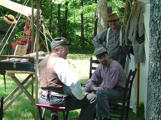 Reenactors interpret the Civil War history at annual commemorations of the battle.