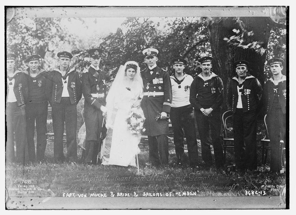 Capt. Von Mucke & bride & sailors of EMDEN  (LOC)