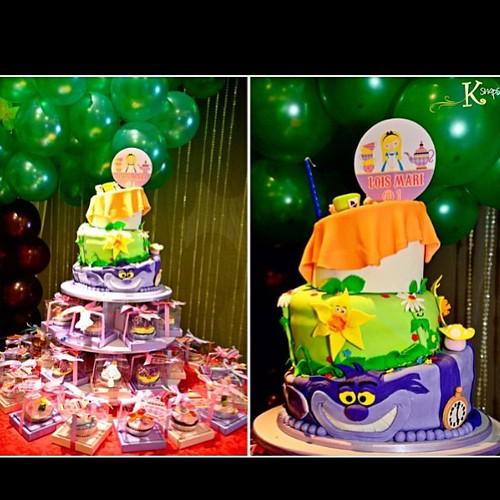 alice in wonderland cake! #ksnaps #ksnapsroductions #cake #alice #aliceinwonderland #birthday #1stbirthday #kids #cupcakes #fondant #cakes