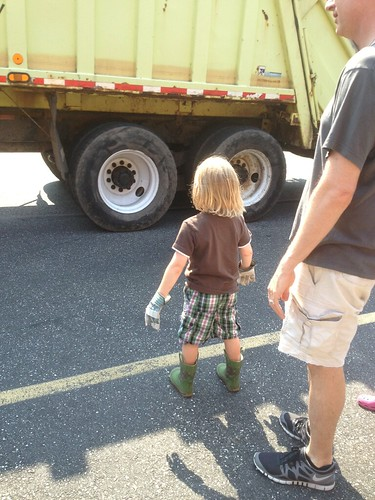 Jack by the garbage truck 130624