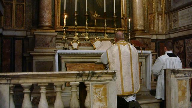 Father Michael Mary FSSR Mass in Pellegrini