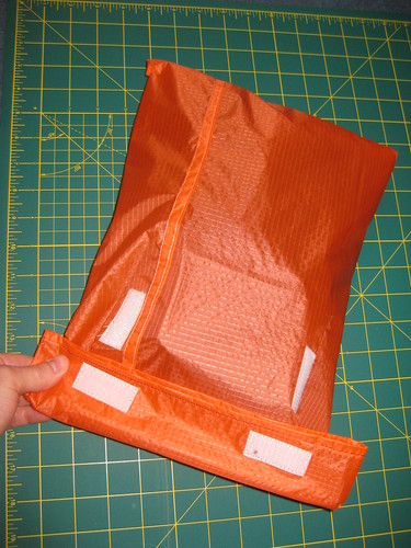 Homemade ripstop shoe bag