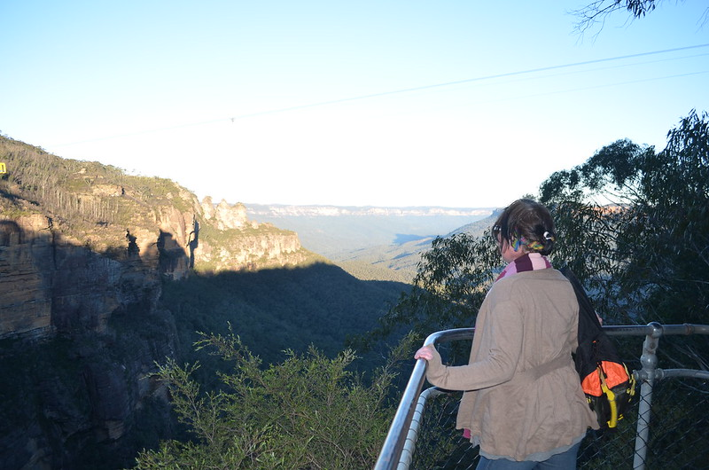 Lori looking over Jamison Valley (taken from the top of the Katoomba Falls track)