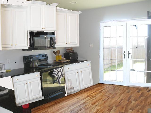 kitchen w white doors