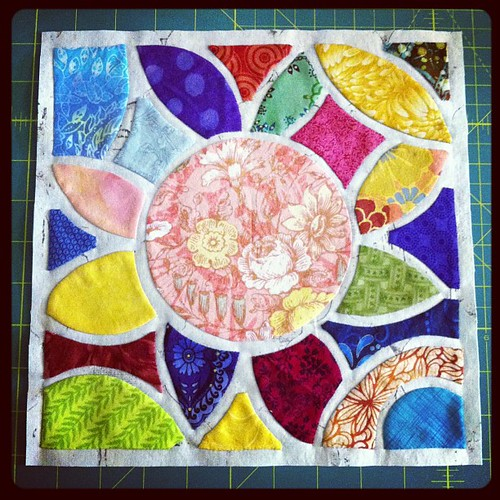 Tile quilt block C done.  2 more to go! #tilequiltrevival
