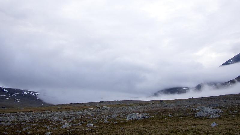 Schnell aufziehende Wolken