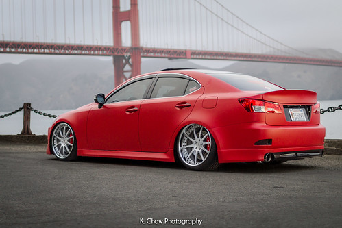 matte red lexus is250