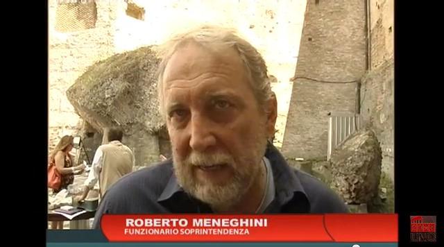 ROMA ARCHEOLOGIA e BENI CULTURALI e I FORI IMPERIALI: I lavori di scavo al foro della Pace, ROMA UNA TV (24/07/2013), [FOTO e VIDEO 04:23].