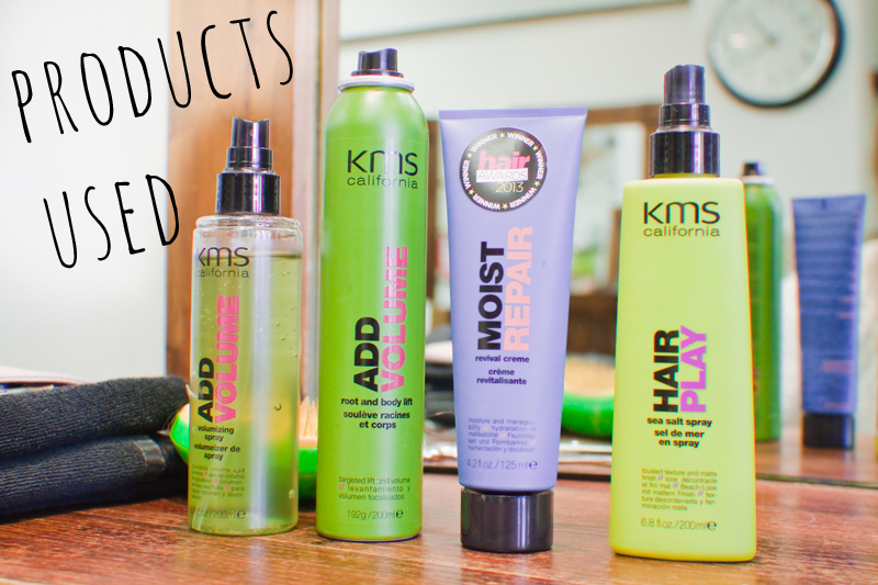The KMS California hair products used at Tai Hair & Beauty