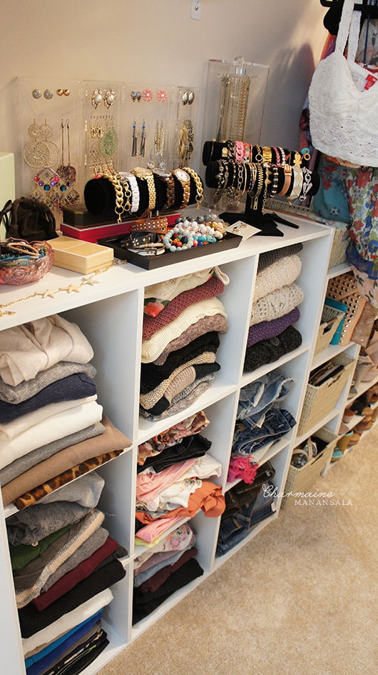 Closet tour love charmaine Cheap clothes storage ideas