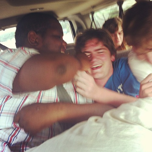 Brotherly love. #roadtriptogetpatrick