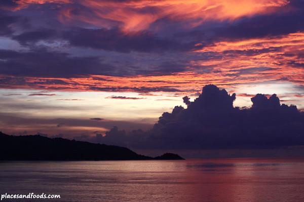 sunset at patong beach 1