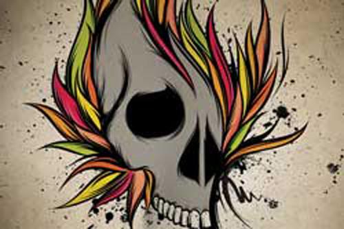 Drawing 3d Skull Graffiti Punk Ideas Karine Bomfim Flickr