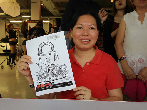 caricature live sketching for NTUC U Grand Prix Experience 2013 - 18
