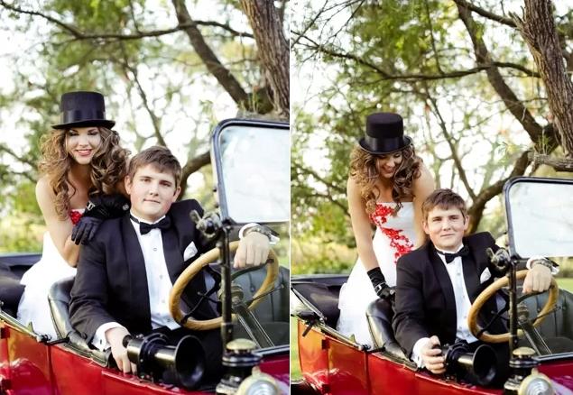 A Bonnie Clyde themed couple shoot Rolene Photography