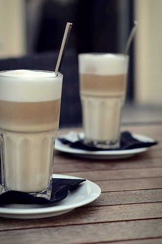 latte macchiato on saturday morning by red-photo