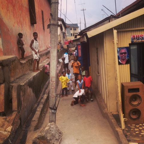 The exact spot in Fante Newtown where Okyeame Kwame met Okyeame Quophi