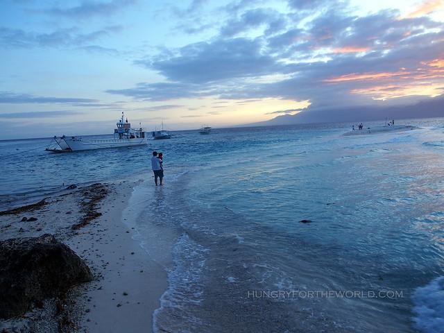 sumilon island at dusk
