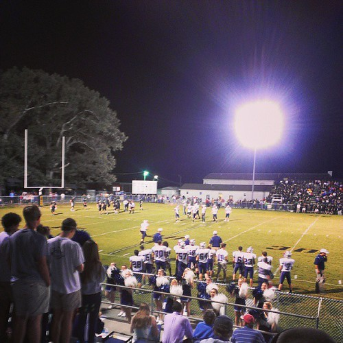 Fixing to get a #touchdown #highschool #DarPatriots #football vs Crossville
