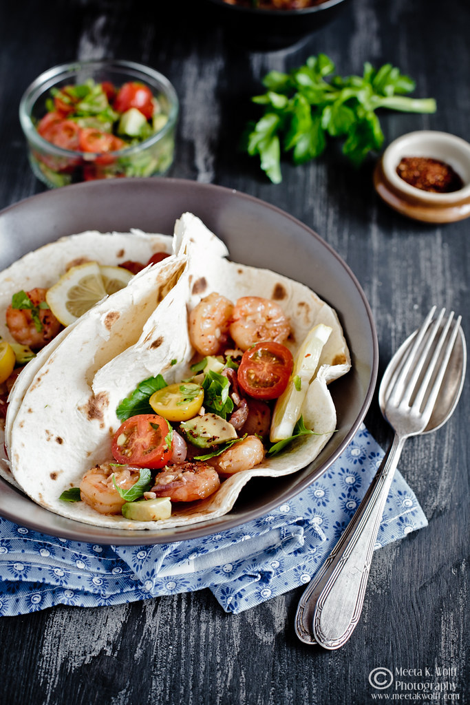 Prawn Ginger Garlic Tacos (0036) by Meeta K. Wolff