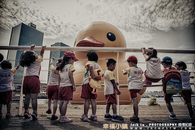 幼稚園的戶外旅遊,黃色小鴨