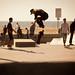 Blond Skater Gets Air - Venice Beach Skate Park, CA by ChrisGoldNY