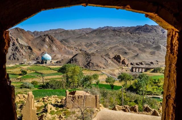 Panorámica desde Kharanaq (Irán)