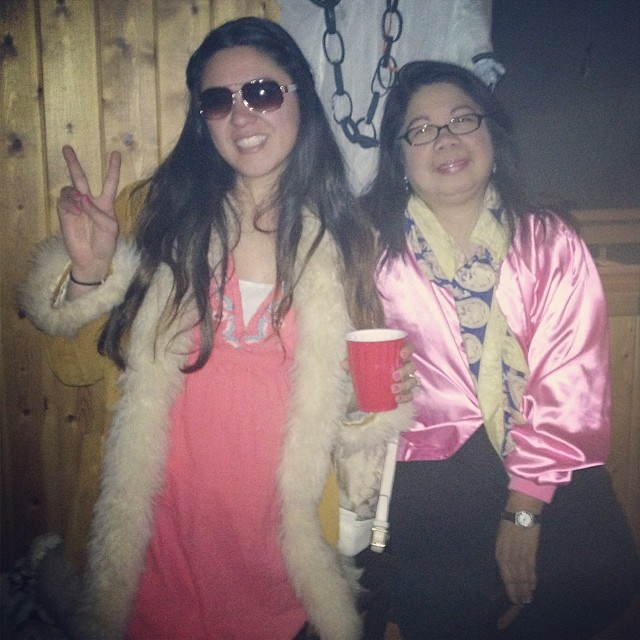 A hippie and a pink lady.