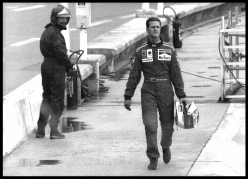 Schumacher walks back to the pits by rollingstone64