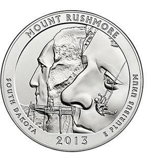 Mt Rushmore Five OUnce Silver