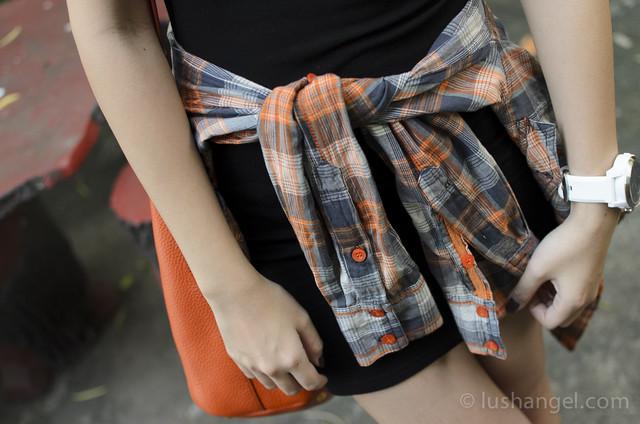 plaid-waist-tie