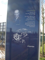 Photo of Austin Mini and Alec Issigonis  blue plaque
