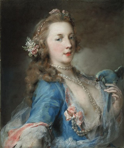 A Young Lady with a Parrot, c. 1730