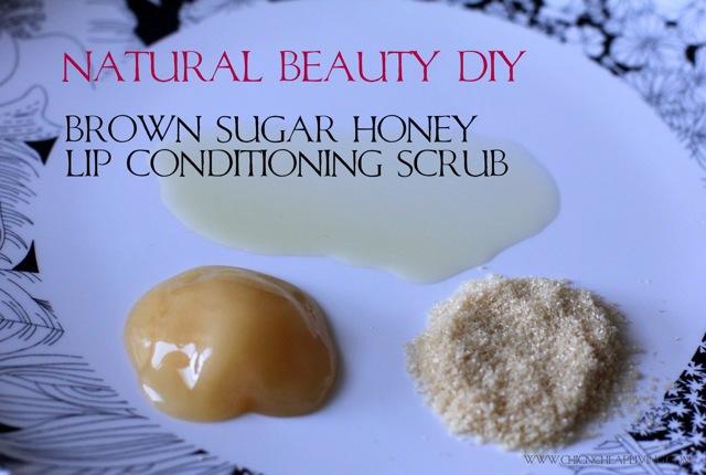 Brown sugar lip conditioning scrub by Chic n Cheap Living