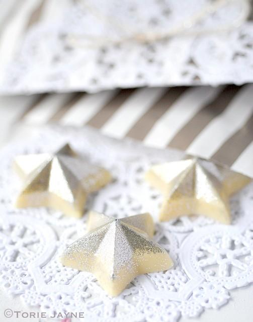 Hand made chocolate stars