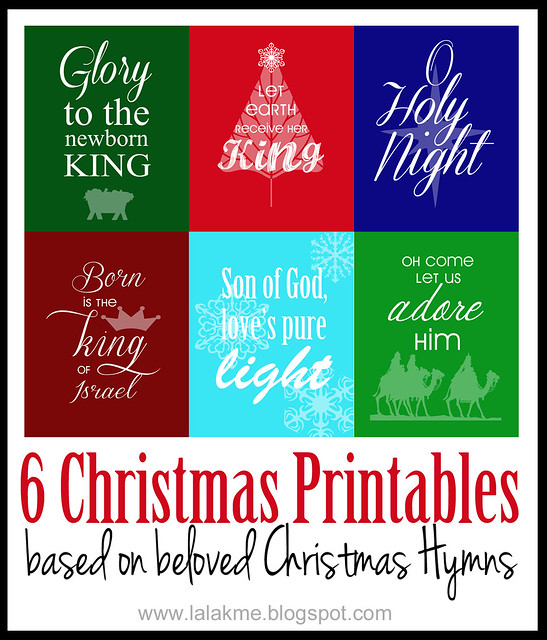 Six Christmas Printables Based on Beloved Christmas Hymns