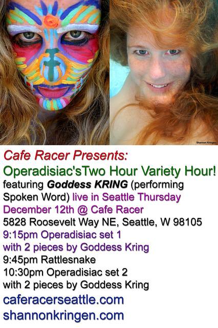 Cafe Racer Presents Goddess KRING!