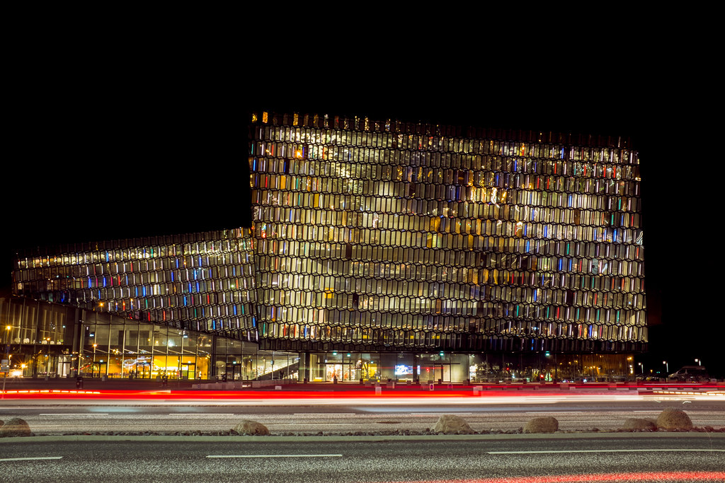 Harpa by night